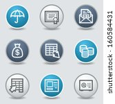banking web icons  circle blue... | Shutterstock .eps vector #160584431
