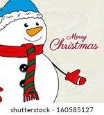 christmas design over beige... | Shutterstock .eps vector #160585127