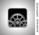 gear icon vector  gear isolated ...