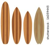 wooden surfboards  high quality ... | Shutterstock .eps vector #16059445