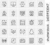 set of 25 universal business...   Shutterstock .eps vector #1605953047