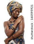 Young Beautiful African Fashio...
