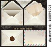 set of vintage design elements... | Shutterstock .eps vector #160598705
