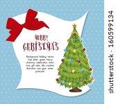 christmas design over blue... | Shutterstock .eps vector #160599134