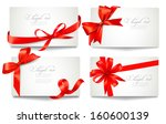 set of beautiful gift cards... | Shutterstock .eps vector #160600139