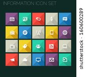 trend information icons with...