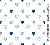 Blue Hearts Pattern. Vector...
