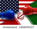 iran versus america or usa...   Shutterstock . vector #1606035217