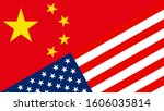usa or american and china flags ...   Shutterstock .eps vector #1606035814