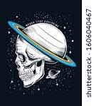 space theme skull illustration. ... | Shutterstock .eps vector #1606040467