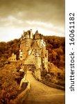beautiful Eltzburg castle (Germany) - artistic toned picture - stock photo