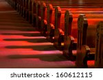 Church Pews In Reflected...