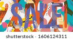 sale website banner. sale tag.... | Shutterstock .eps vector #1606124311