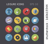 flat icons for leisure. vector...