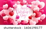 valentine's day sale poster or... | Shutterstock .eps vector #1606198177