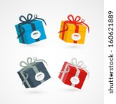 vector present boxes isolated... | Shutterstock .eps vector #160621889