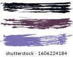 modern watercolor brush stripes ... | Shutterstock .eps vector #1606224184