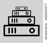 book stack icon modern style...