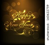 happy new year 2014 celebration ... | Shutterstock .eps vector #160622759