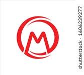 m letter vector logo abstract | Shutterstock .eps vector #1606239277
