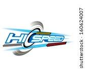 hi speed concept vector   Shutterstock .eps vector #160624007