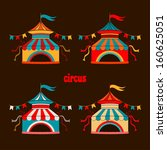 collection of tents for the... | Shutterstock .eps vector #160625051