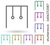 gym rings multi color icon....