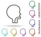 nasopharynx multi color icon....