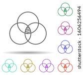 bubble chart line multi color...