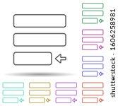 editorial  justify multi color...