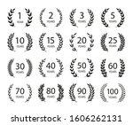 set of anniversary laurel... | Shutterstock .eps vector #1606262131