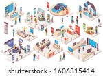 expo center and trade show... | Shutterstock .eps vector #1606315414