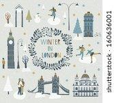 winter in london | Shutterstock .eps vector #160636001