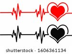 two types of heart and heart... | Shutterstock .eps vector #1606361134