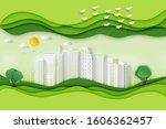 paper art   cut and craft style ...   Shutterstock . vector #1606362457