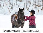 a beautiful brunette girl in a... | Shutterstock . vector #1606392661