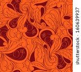 vector seamless paisley... | Shutterstock .eps vector #160639937