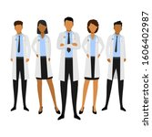 medical team. concept vector... | Shutterstock .eps vector #1606402987