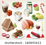 set of traditional christmas... | Shutterstock .eps vector #160641611