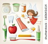 set of items for keeping your... | Shutterstock .eps vector #160641614