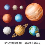 set of planets of solar system | Shutterstock .eps vector #160641617