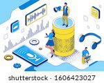 voice control isometric 3d... | Shutterstock .eps vector #1606423027
