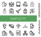 simplicity icon set. collection ... | Shutterstock .eps vector #1606443304