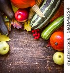 healthy organic vegetables on a ... | Shutterstock . vector #160646234
