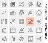 set of 25 universal business...   Shutterstock .eps vector #1606484317