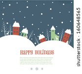 Happy Holidays greeting banner - stock vector
