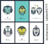 collection greeting cards with... | Shutterstock .eps vector #1606495777