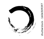 zen enso  circle ink brush... | Shutterstock .eps vector #1606509397