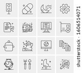 16 universal business icons... | Shutterstock .eps vector #1606514071