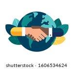 vector illustration of hands of ... | Shutterstock .eps vector #1606534624
